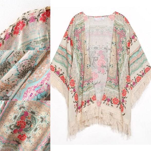 long kimono gilet