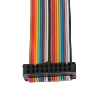 58280e1bbe9d 1.27mm ul2651 28awg 16 pin flat rainbow ribbon cable with 2.54mm idc  connector