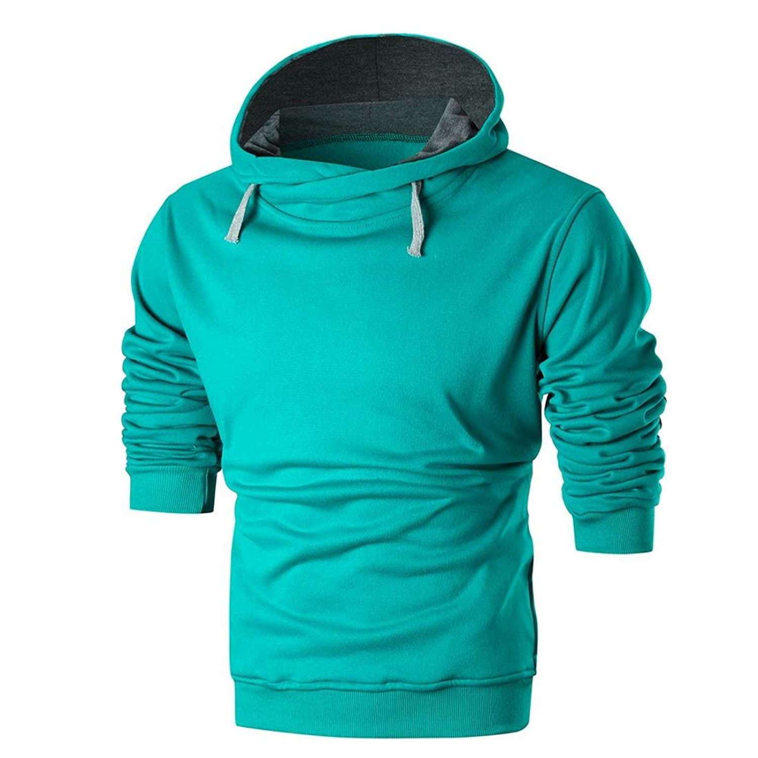 Hot Sale,Men Hoodies,Bokeley Casual Long Sleeve Pullover Slim Fit Hooded Sweatshirt