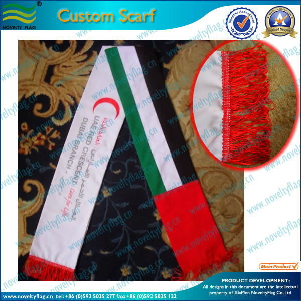 Custom scarf print in cheap price for promotion, polyester fabric