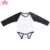 Wholesale Monogrammed Christmas Cotton Buffalo Plaid Long Sleeve Jumper Unisex Raglan Baby Romper