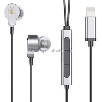 8 pin connector earphone with high sound quality for all of the mobile phone , customized color