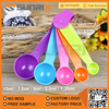 Food Grade Colorful Small Plastic Measuring Spoon 5 Sets