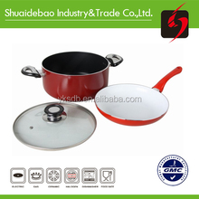 2015 New design eco friendly ceramic cookware set,ceramic coating cookware