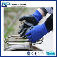 U3 Style Liner Dipped Nitrile Industrial Safety Working Gloves With CE Certification