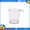 Latest design 2oz. clear plastic hook shooter shot glass