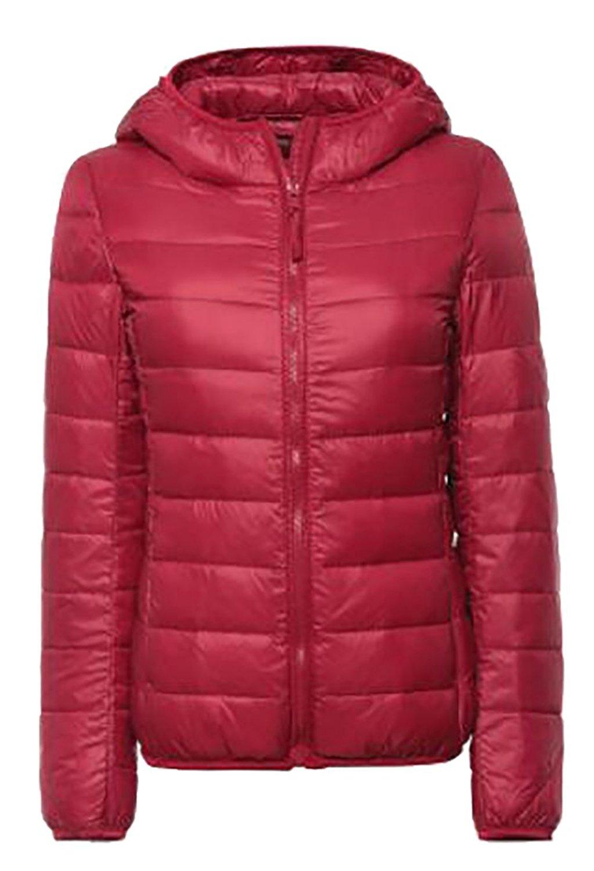 M/&S/&W Womens Hooded Packable Ultra Light Weight Short Down Jackets