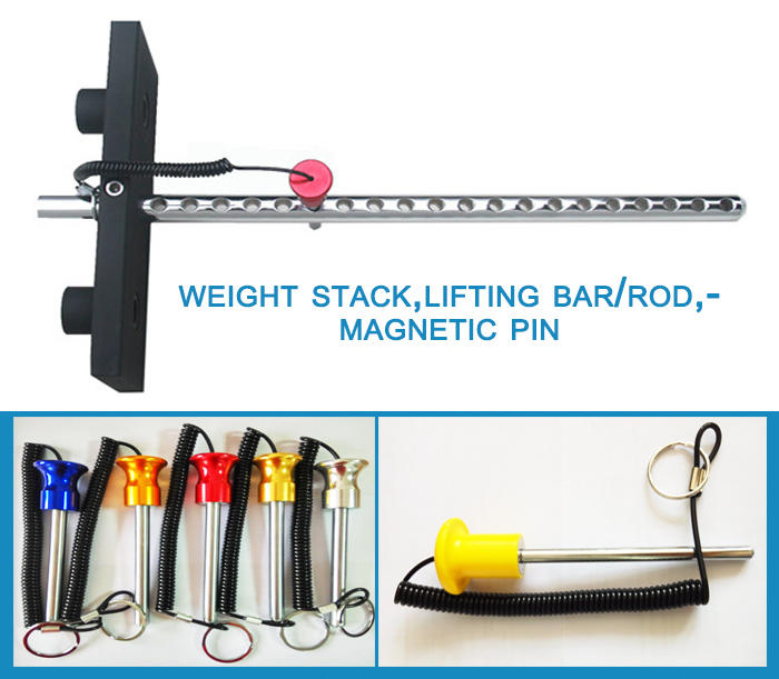 fitness parts magnetic pin, lock pin with weight stack from zibo
