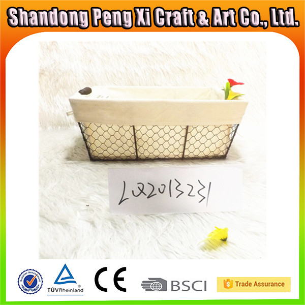 Cheap small metal wire fruit basket with cover