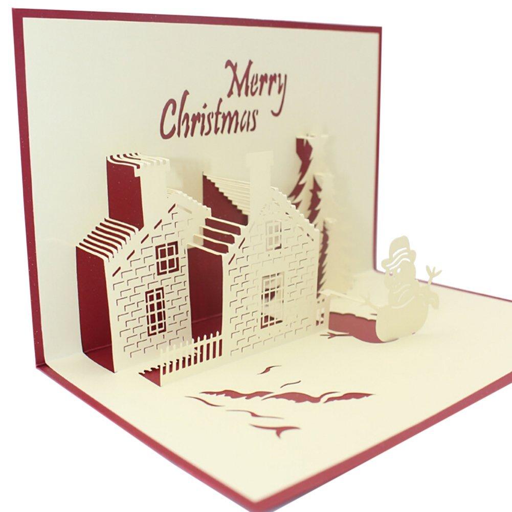 Buy Adarl 3d Happy Tree Christmas Cards Luxury Handmade Paper Cards