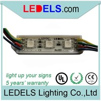 5 years warranty,0.72w 3eds SMD 5050 directions to connect rgb led light module for sign
