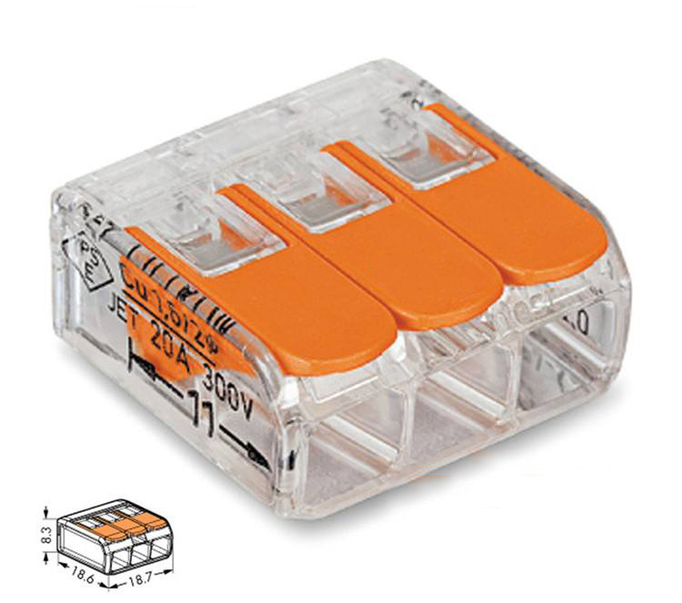 Wago 221 Series Junction Box Combination Wire Connectors For Quick Use Mini Connectors KB59