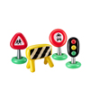 pvc inflatable warning educational traffic road signs toy