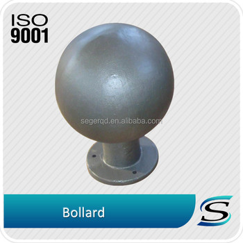 Cast steel ball for road safety