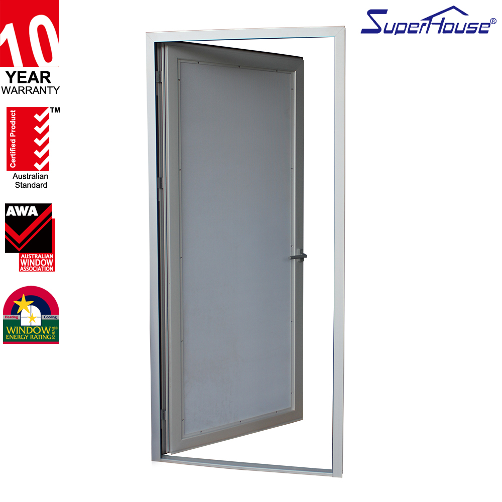 cheap aluminum frame glass door laminated glass aluminium toilet door with frosted glass