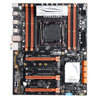 SZMZ X99 chipset Intel motherboard with LGA 2011-3 socket support Xeon V3 CPU real quad channel DDR3 with ECC check function