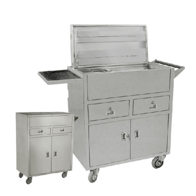 Factory Direct Stainless Steel Hospital Emergency Treatment Trolley Cart