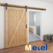 High standard simple design pvc interior sliding barn door