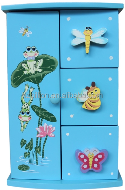 Nice Wooden kids Jewelry box wooden handicraft Storage Box