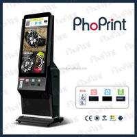 led display screen photobooths kiosk photo machine coin acceptor vending business
