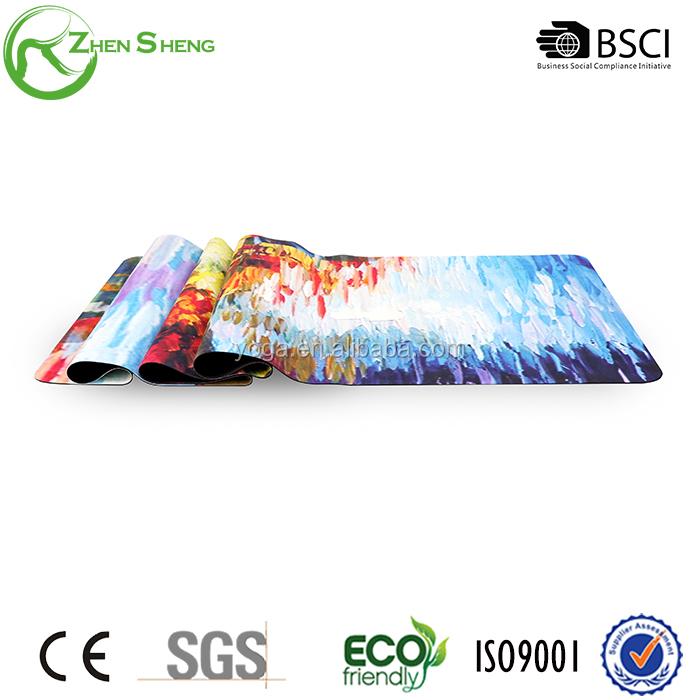 Zhensheng Custom Printed Label Yoga Mat Natural Rubber