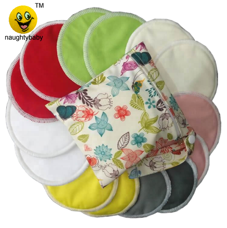 Washable bamboo baby feeding cloth Nursing pads reusable lactation charcoal breast pads