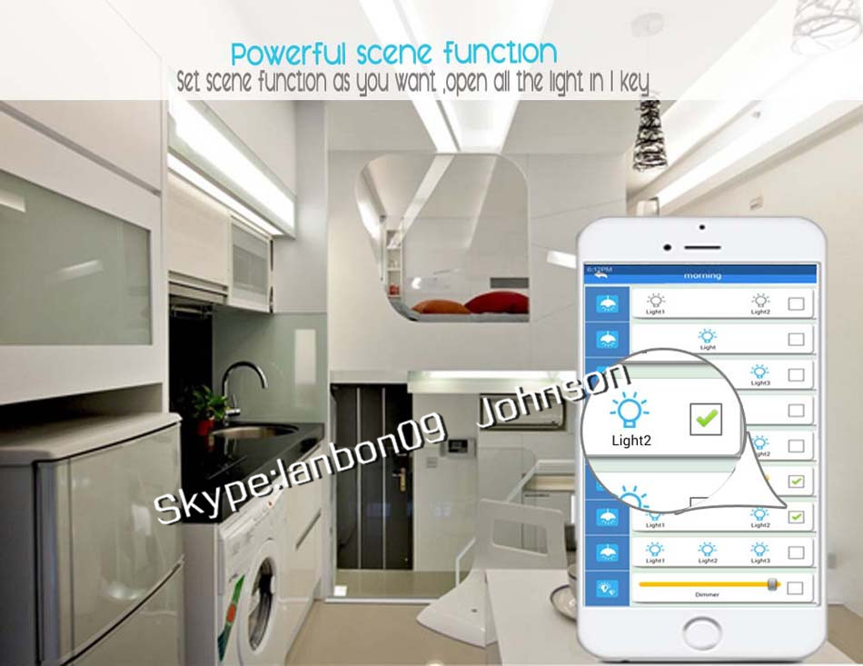 Iot intelligente di illuminazione touch panel elettrico smart