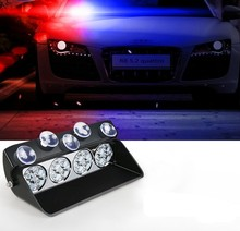 8LED/16LED <span class=keywords><strong>Mobil</strong></span> Flash Sinyal Darurat Polisi Fireman Beacon Peringatan Cahaya Led Strobe Light Bar Amber Merah <span class=keywords><strong>Biru</strong></span>