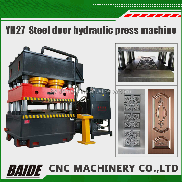 YH27 3500 tons Best Selling sheet metal embossing machine 2000 tons security door horizontal hydraulic press