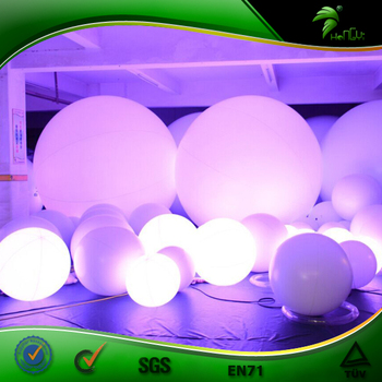 Inflatable Crowd Balloon With LED Light Zygote Touch Ball For Events