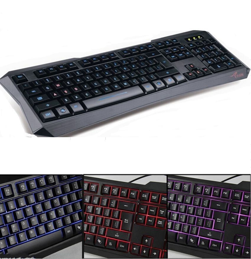 new keyboard backlit lighted usb wired gaming led backlight illuminated computer hot sale in. Black Bedroom Furniture Sets. Home Design Ideas