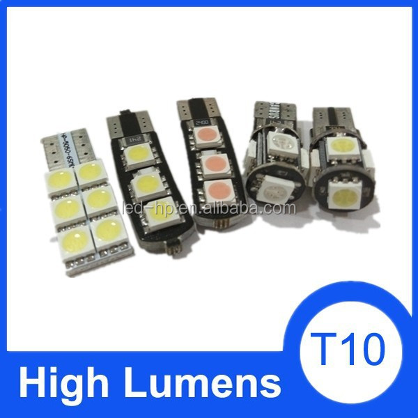 Interior Led Car T10, DC 12volt Led Light Car Bulb, CANBUS T10 RGB Led Car Light