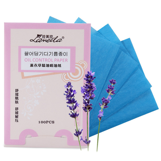oem cosmetics 100 pcs oil control blotting paper color facial tissue