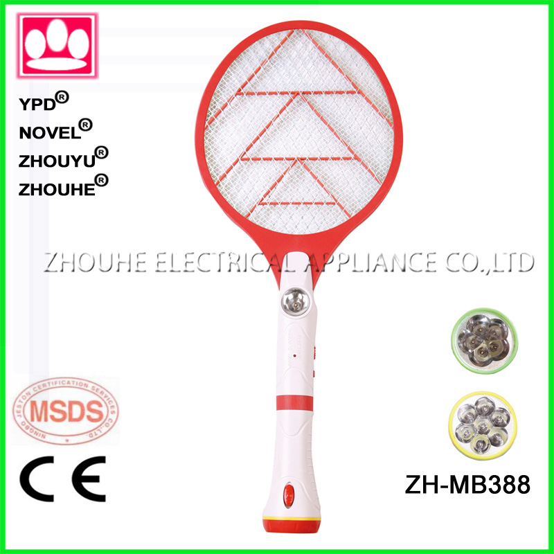 Newest sale rechargeable bettery mosquito household electric fly swatter with torch