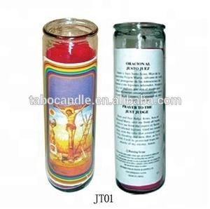 catholic Rreligious glass encased novena candles