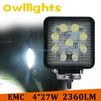 Automobile parts car accessories led car tractor headlight 4 inch 27w super bright led work lights