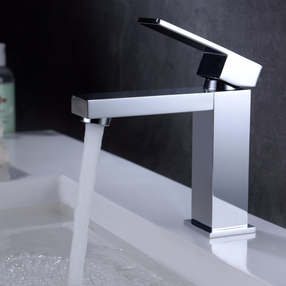 Single Handle Single Hole Square Faucet For Bathroom Buy