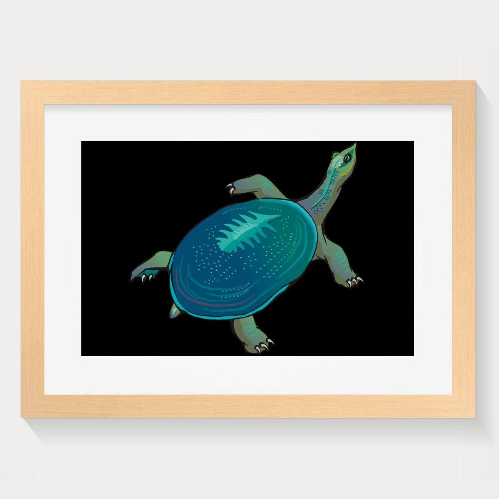 Sea Turtle Cute Swimming Decorative Paintings Home Decorative Wall Art Picture