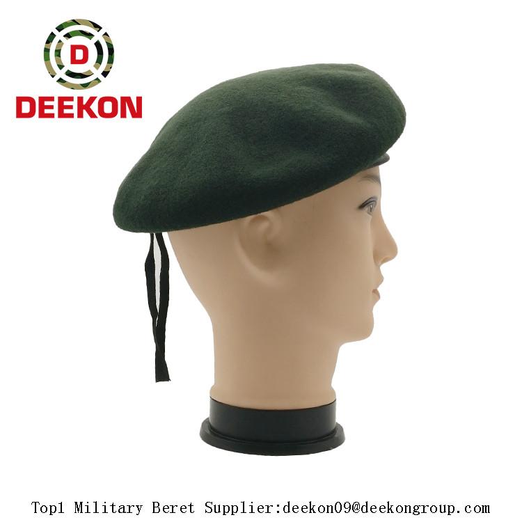 f9fec136 Korea Combat Olive Wool Beret Cap, Military Beret Cap, Army Beret Caps for  Battle