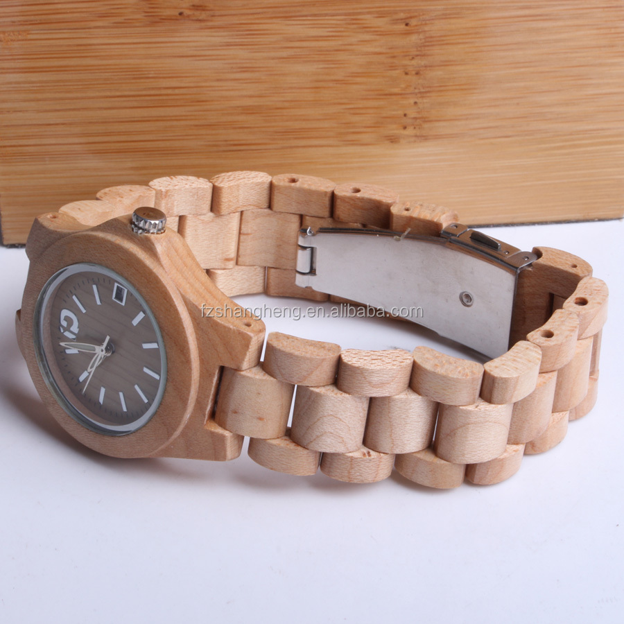 Hot sale women wood wrist watch