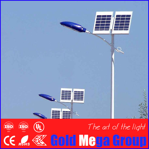 IP65 IP Rating and Aluminum Lamp Body Material outdoor 20w solar LED street lighting 5m