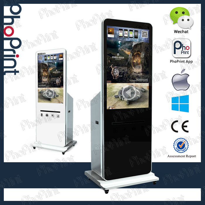 business card advertising displays equipment online photo printing services kiosk station mobile free charge