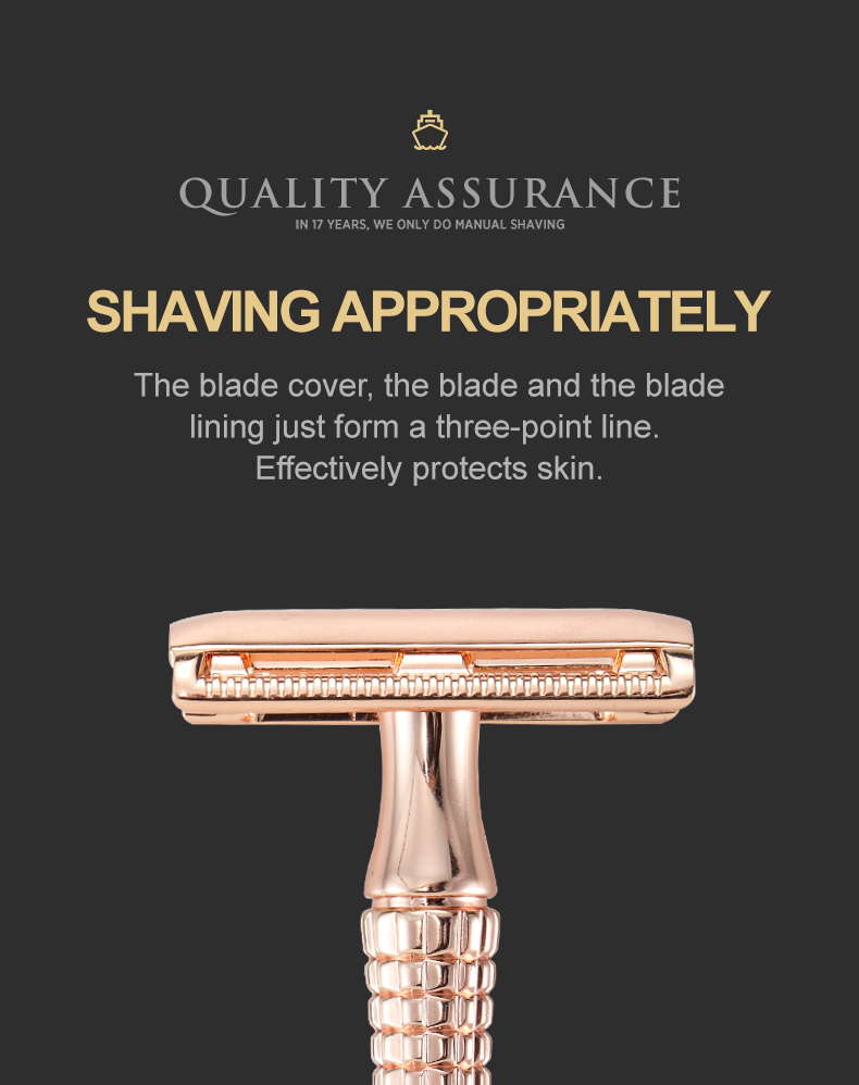 Baili eco friendly double edge safety razor mens shaver classic shaving for man cut throat razor with double sided blade OEM