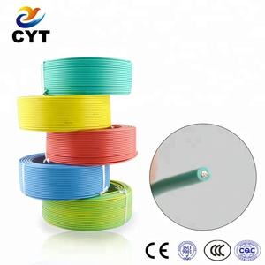 pvc insulated single conductor copper material electrical wire specification
