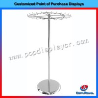 Supermarket retail metal wire umbrella display stand