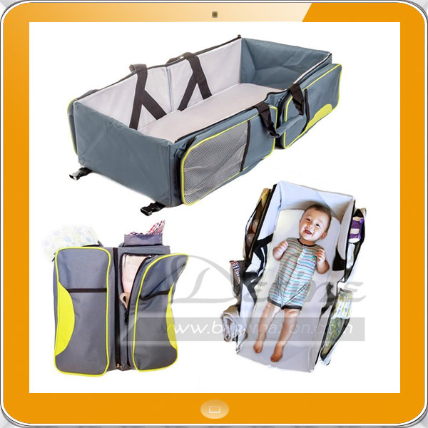 Travel Portable Bassinet 3 in 1 Diaper Caddy Travel Crib Baby Bed