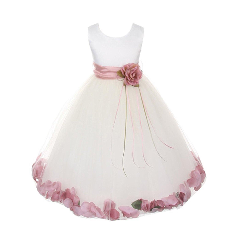 Cheap Rose Petal Flower Girl Dress Find Rose Petal Flower Girl