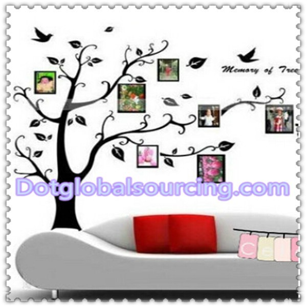 Modern Design Removable DIY Photo Frame Tree Leaf Wall Stickers Home Decor