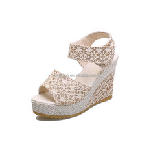 latest ladies wedge sandals shoes women 2017 in summer