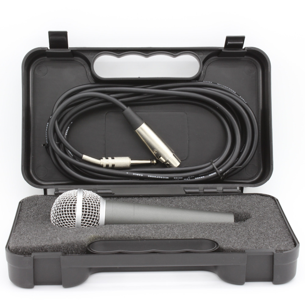 Metal dynamic handhold microphone box set including cable